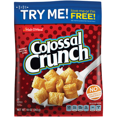 Malt-O-Meal® Colossal Crunch® Sweetened Corn & Oat Cereal 10 oz. Bag