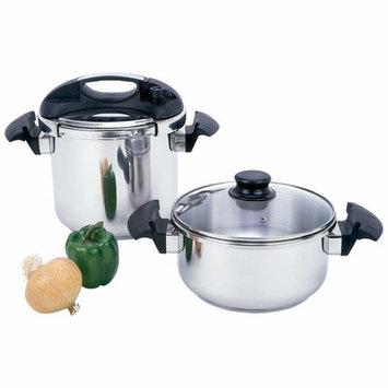 Chefs Secret Precise Heat 2 Piece 4 and 7 Quart Pressure Cooker Set