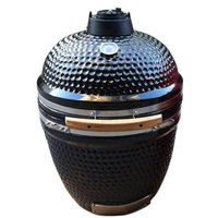 Rta Home And Office Kahuna Grills 18 in. Stand Alone Ceramic Smoker Grill - Black