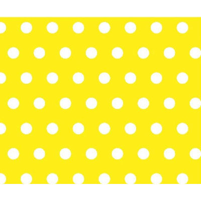 Stwd Polka Dots Crib Sheet Color: Yellow