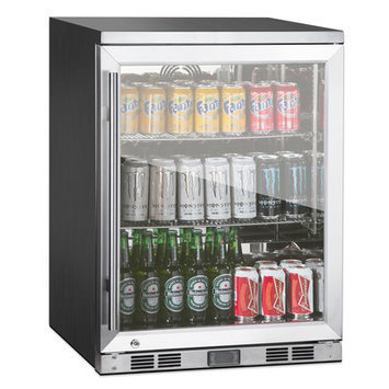 Kingsbottle 1 Door Front Venting Full Stainless Steel Bar Fridge