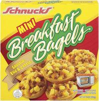 Schnucks Mini Sausage Egg & Cheese Breakfast Bagels 9 Oz Box