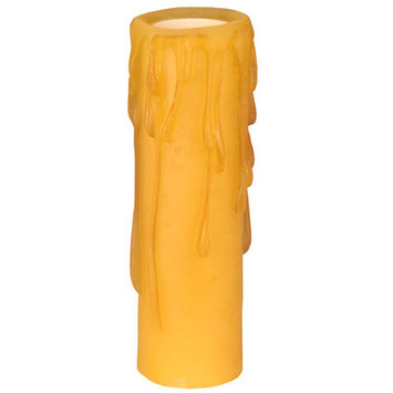 Meyda Tiffany 118642 Poly Resin Honey Amber Candle Cover