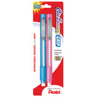 Pentel 2 Count Assorted Clic Eraser Retractable Eraser With