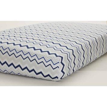 Just Born Sleep Well Navy/Gray Chevron Fitted Crib Sheet