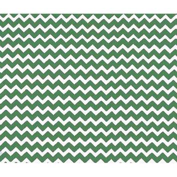 Sheetworld Chevron Zigzag Portable Mini Fitted Crib Sheet Color: Forest Green