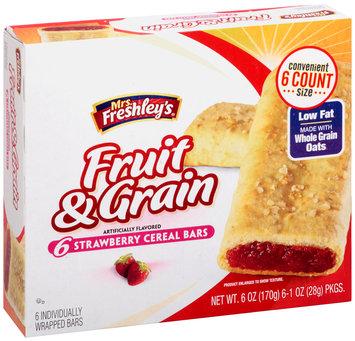 Mrs. Freshley's® Fruit & Grain Strawberry Cereal Bars 6-1 oz. Packs