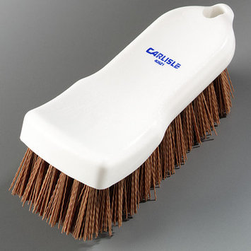 Carlisle 4052125 - Kitchen Brush w/ 6-in Handle & Tan Polyester Bristl