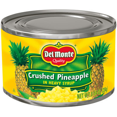 Del Monte® Crushed Pineapple in Heavy Syrup 8.25 oz. Can