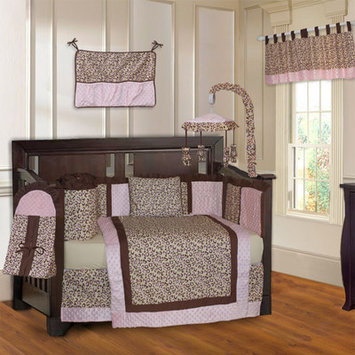 Babyfad Leopard 10 Piece Crib Bedding Set Color: Pink