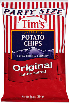 Tim's® Cascade Style Potato Chips Original Lightly Salted 16 oz. Bag