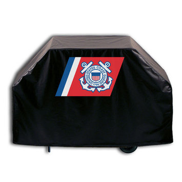 Holland Bar Stool Company US Armed Forces Grill Cover - Size: 36 H x 55 W x 21 D, Branch: Coast Guard