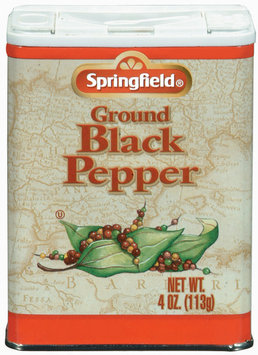 Springfield Ground Black Pepper 4 Oz Can