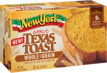 New York® Garlic Whole Grain Texas Toast 8 ct Box