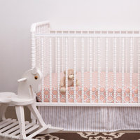OM Home Jasper Crib Sheet - Pink - 1 ct.
