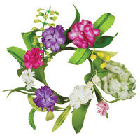 Oddity, Inc. Oddity Inc. 29567 2 in. Zinnia Bursts Of Color Candle Ring - Pack of 4