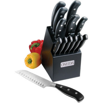 Oneida 55086 14-Pc Triple Rivet Cutlery Set W/ Block