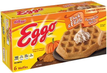 Kellogg's® Eggo® Limited Edition Thick & Fluffy Pumpkin Spice Waffles 6 ct Box