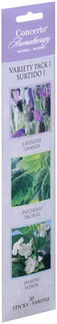 Concerto® Aromatherapy Lavender Patchouli Jasmine Variety Pack Incense Sticks 30 ct. Carded Pack