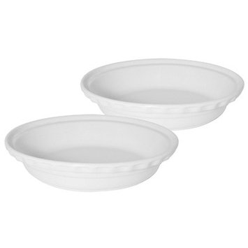 Chantal 9.5-in. Bakeware Deep Pie Dish, White