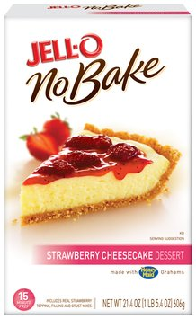 Jell-O No Bake Strawberry Cheesecake Dessert Mix 21.4 Oz Box
