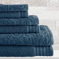 House Of Hampton 6-Piece Cotton Towel Set Color: Denim