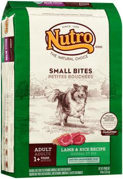 Nutro® Small Bites Adult Lamb & Rice Recipe Dog Food 30 lb. Bag