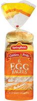 Springfield Egg 6 Ct Bagels 18 Oz Bag