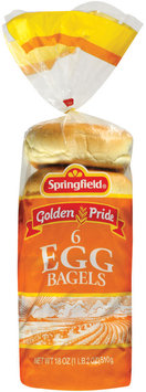 Springfield Egg 6 Ct Bagels 18 Oz Bag