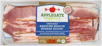 Applegate Organics® Uncured Reduced Sodium Sunday Bacon® 8 oz. Package