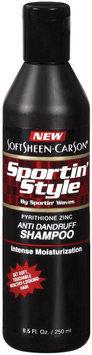 Sportin' Style Intense Moisturization Anti Dandruff Shampoo 8.5 Oz Plastic Bottle