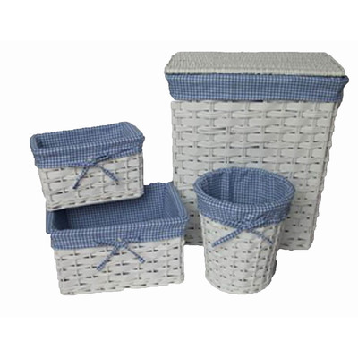 Baum 4 piece Bath Baskets with Liners Set