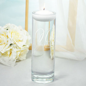 Cathys Concepts Personalized Elegance Floating Unity Candles