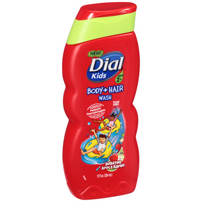 Dial® Kids Bursting Apple Rapids™ Body + Hair Wash 12 fl. oz. Bottle