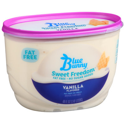 Blue Bunny™ Sweet Freedom® Vanilla Flavored Fat Free Ice Cream 48 fl. oz. Tub