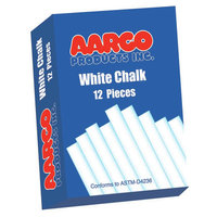 AARCO Products WCS12 White Chalk 12 Boxes