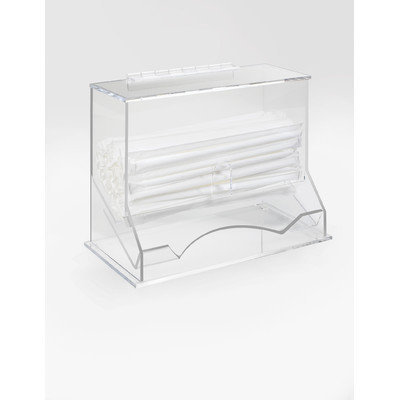 Cal-mil 10.125W x 5.25D x 8.125H Wrapped Straw Orgnizer 1 Ct