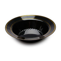 Fineline Settings, Inc Silver Splendor Bowl (Pack of 120), Black with Gold Accent
