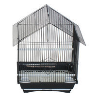 Yml House Top Style Small Parakeet Cage With Food Access Doors Color: Black