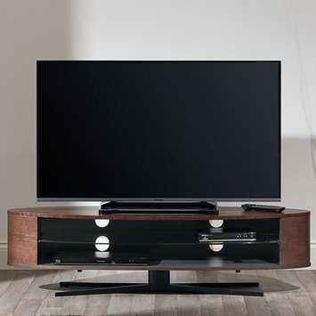 Techlink EL140DOSG Dark Oak & Satin Grey TV Stand - Screens up to 70