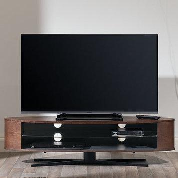 Techlink EL140DOSG Dark Oak & Satin Grey TV Stand - Screens up to 70