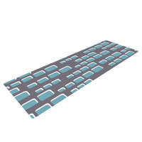 Kess Inhouse Cubic Geek Chic by Michelle Drew Yoga Mat