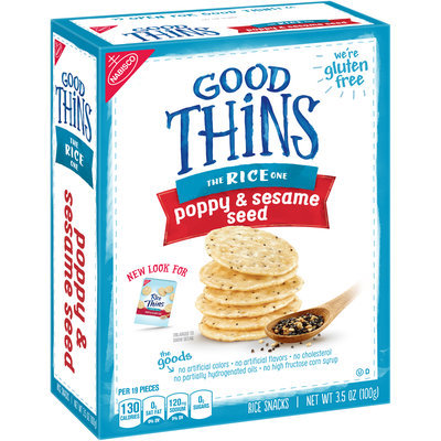 Good Thins Poppy & Sesame Seed Rice Snacks 3.5 oz. Box