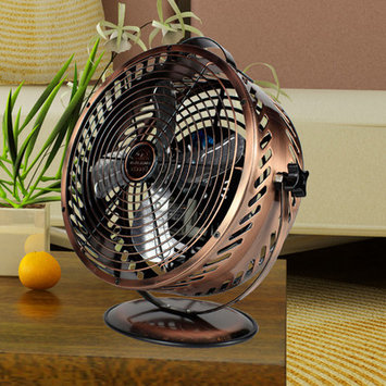 WBM Himalayan Breeze 8.6 in. Decorative Bronze Table Top Fan HBM-7015A14
