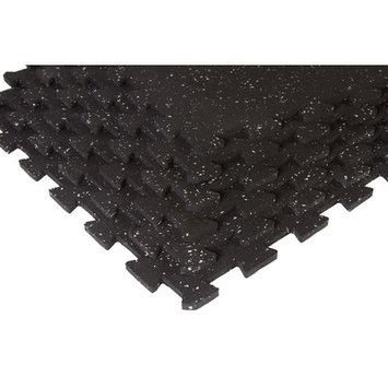 SuperMats SuperLock Black with Grey Flecks Interlocking Floor Mat