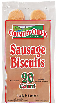 Country Creek Farm 20 Ct Sausage Biscuits 31.4 Oz Bag
