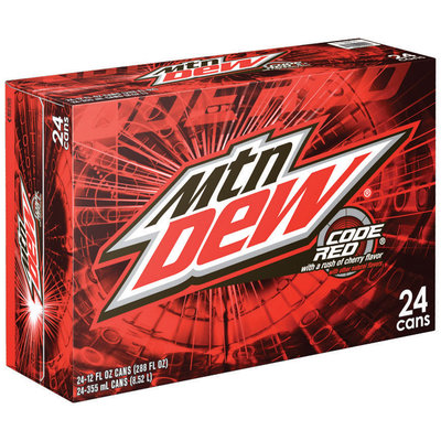 Mountain Dew® Code Red® 24 Pack 12 fl. oz. Cans
