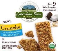 Cascadian Farm Organic Toasted Coconut Crunchy Granola Bars