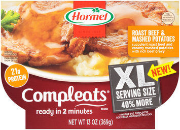 Hormel® Compleats® Roast Beef & Mashed Potatoes 13 oz. Tray