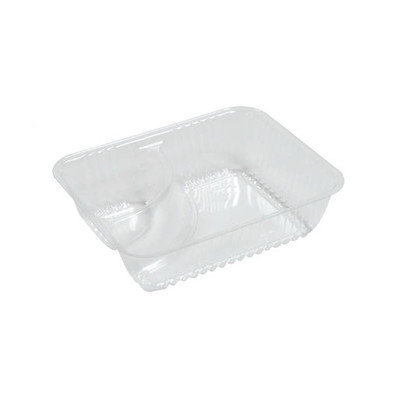 Dart Small 2-Compartments Clearpac Nacho Tray 125/Bag in Clear